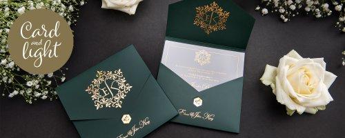 Card & Light Wedding Stationery